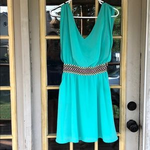Entro Green sundress with pockets size small